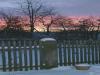 Farbintensives Szenario am morgendlichen Himmel über Auterwitz - aufgenommen am Garten der Familie Vogel.